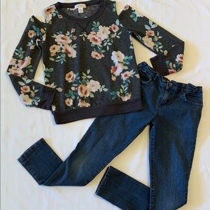Girls Tillys Outfit Top & Jeans 10
